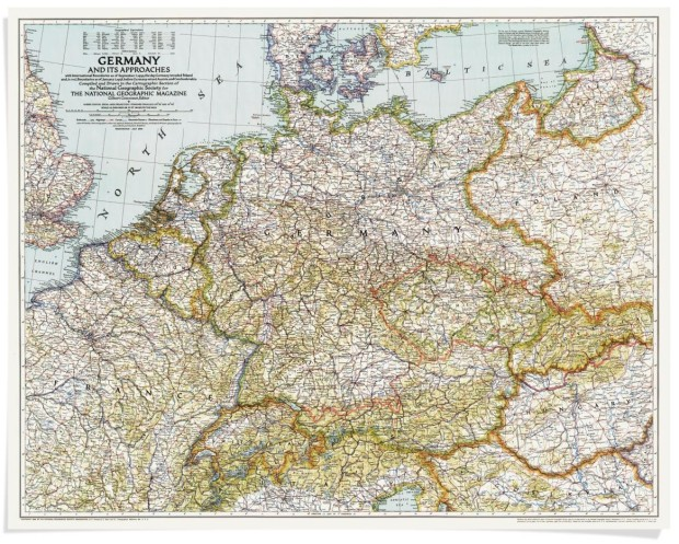 A century of National Geographic maps