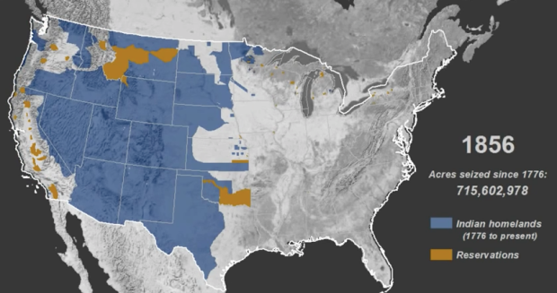 Mapped history of how Native American land was taken