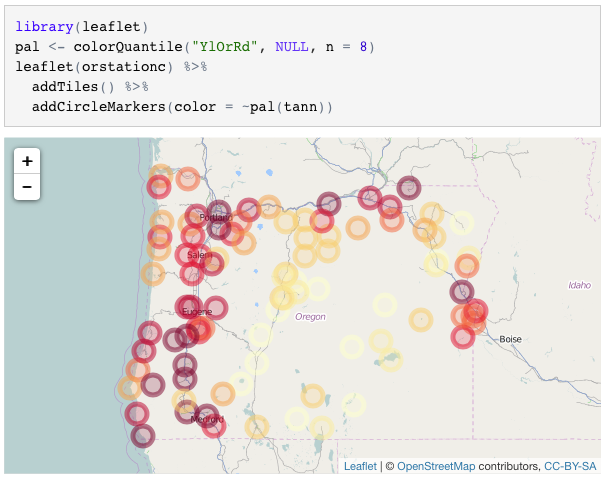 htmlwidgets: Create interactive web charts in R