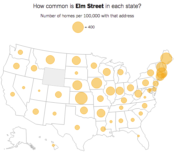 Your street name across the country