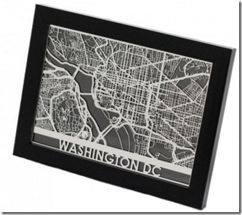 Stainless Steel City Maps